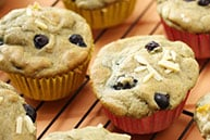 Gluten Free Apple Blueberry Muffins