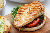 Grilled Mexican Chicken Burger
