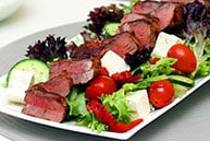 Grilled Lamb Salad with Tzatziki