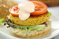 Pumpkin & Chickpea Burger