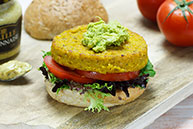 Vege Burger with Guacamole