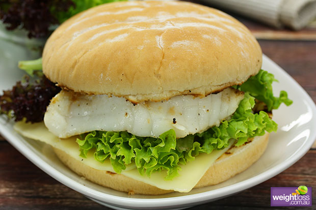 Grilled Fish Burger
